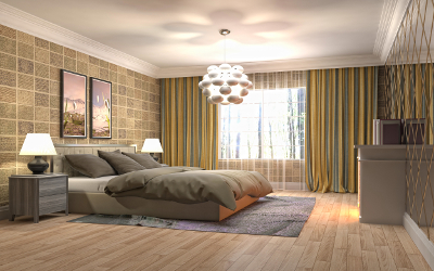 Beleuchtungsidee Schlafzimmer: Decke & Nachttisch