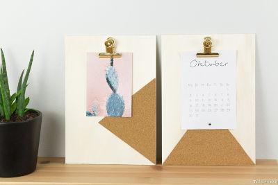 DIY-Klemmbrett-Memoboard-Postkartenhalter