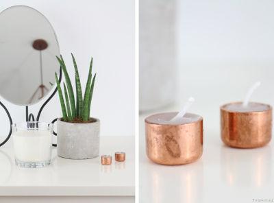 DIY-Kupfer-Kerzen