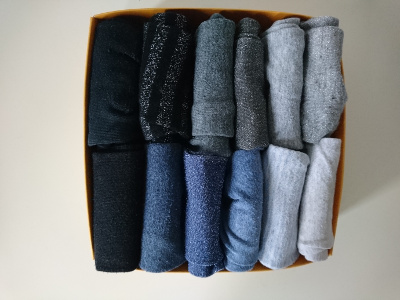 Falttechnik für Socken