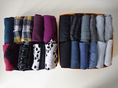 Falttechnik für Socken in zwei Kästchen