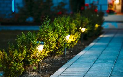 Garten Beleuchtungsidee
