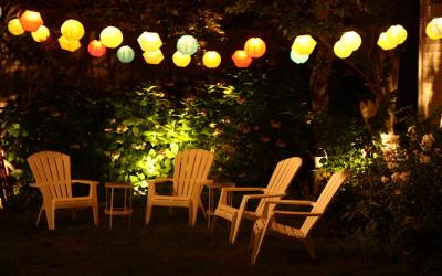 Gartenparty-Beleuchtung