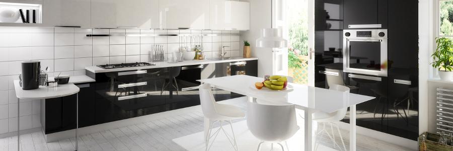 Küche - modern: Küchenzeilen U- und L-Küche, Vorhänge ...