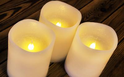 LED Beleuchtungskonzept Schlafzimmer: elektrische Kerzen