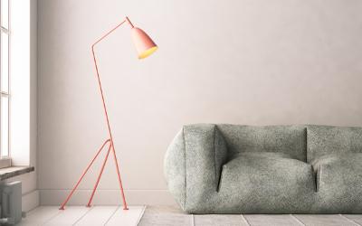Wohnzimmer Beleuchtungsidee Stehlampe