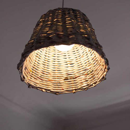 DIY Altpapier Lampenschirm