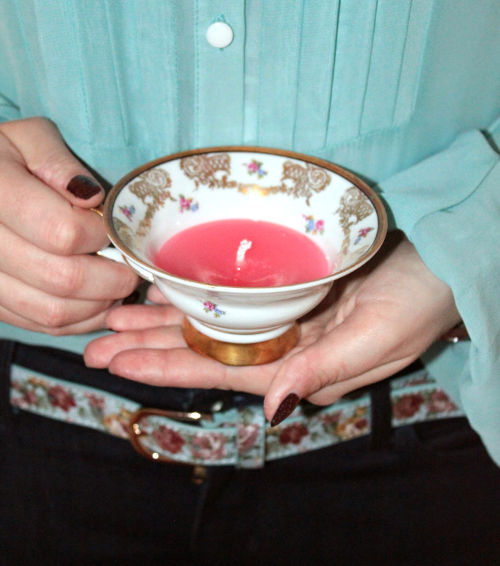 DIY Teetassen-Kerze