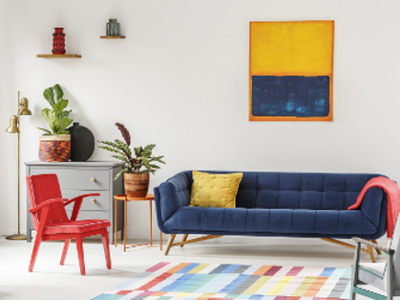 Farbgestaltung im Wohnzimmer