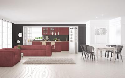 Farbgestaltung mit Rot, Weiß & Anthrazit-Schwarz