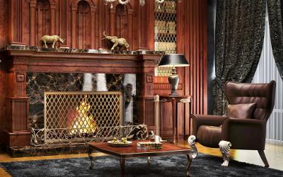 Farbgestaltung mit dunklen Möbel
