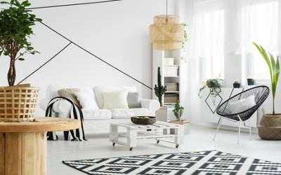 Farbgestaltung im Wohnzimmer nach Feng Shui