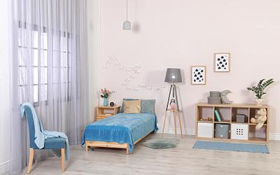 Kinder- und Jugendzimmer in neutralen Farben
