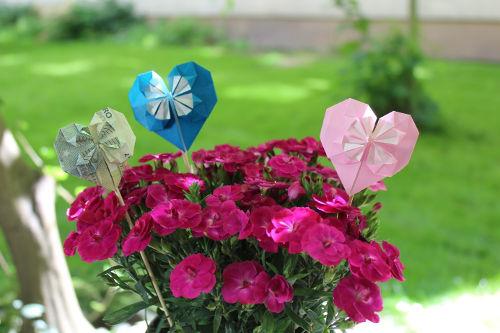 Origami Blumen Deko