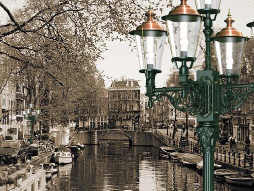 Straßenlaterne Stil Amsterdam